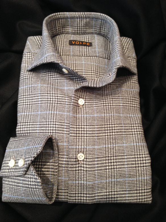 Grey Brushed Cotton with Light Blue over check