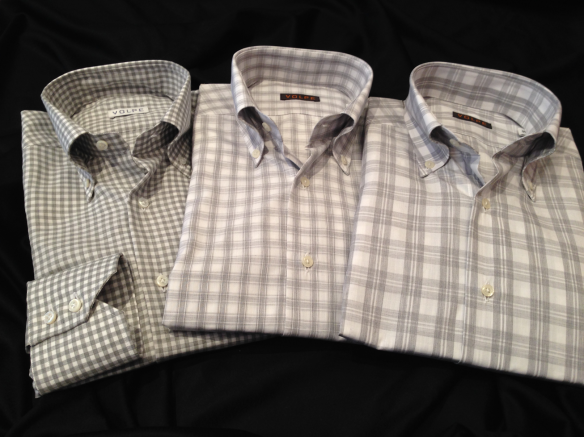 A selection of Grey Cotton checks