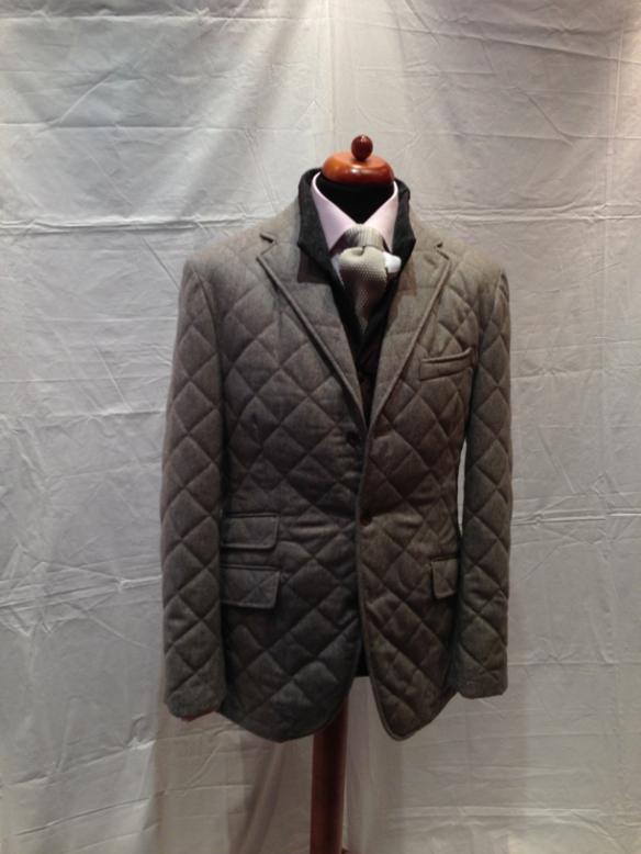 Beige Quilted Jacket