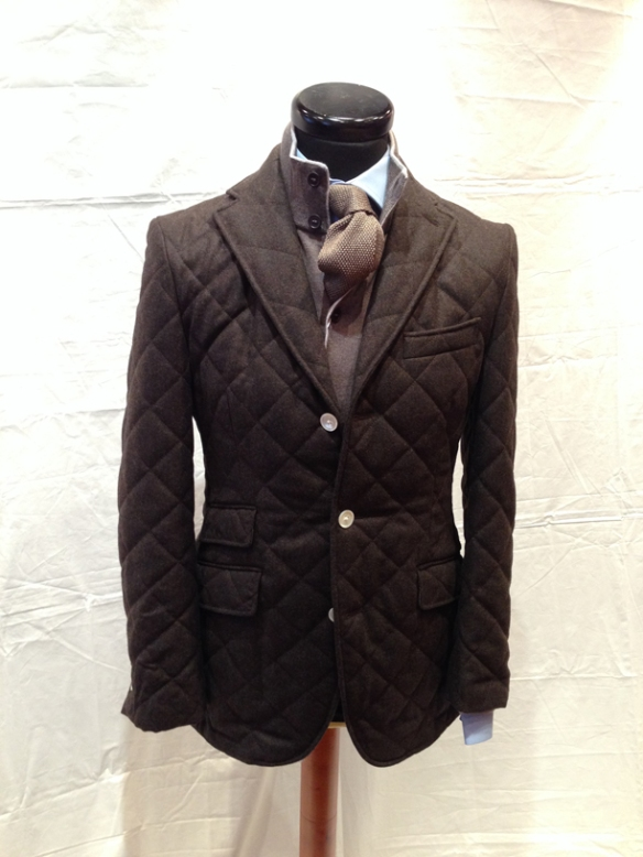 Dark Brown Quilted Jacket