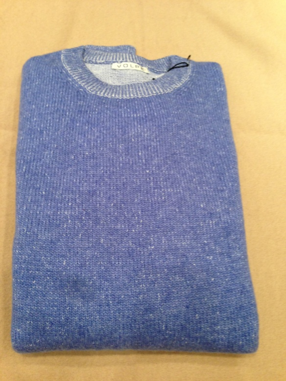 Pale Blue Cashmere and Cotton