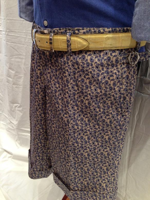 Blue Paisley Short 1