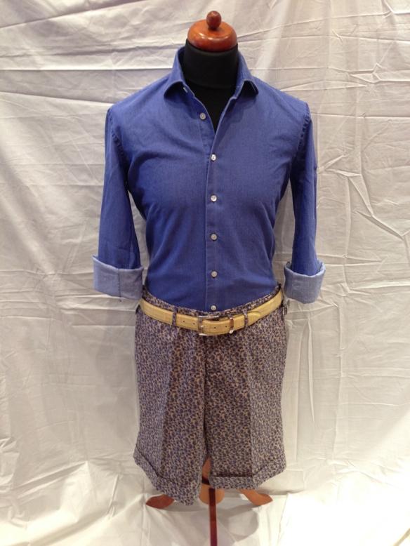 Blue Paisley Short