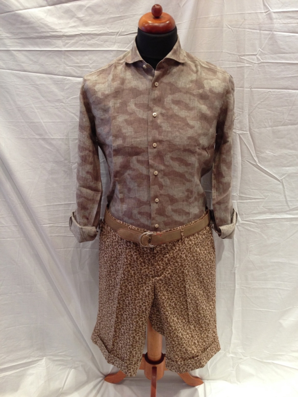Brown Paisley Short