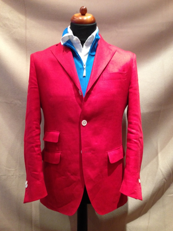 Red Linen Jacket - Made to Measure Only
