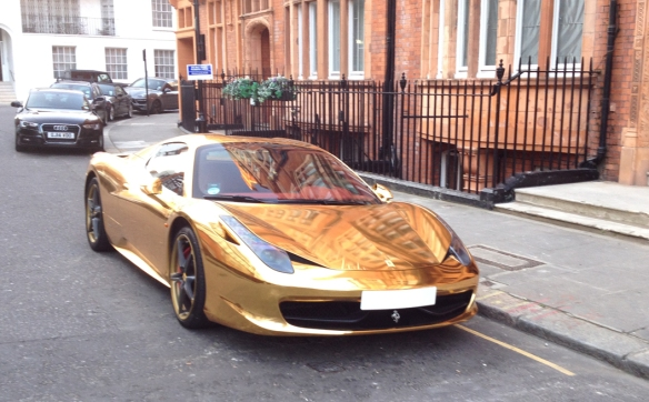 Gold Ferrari Front