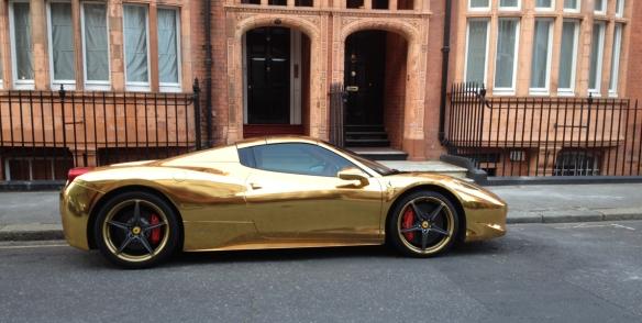 Gold Ferrari Side