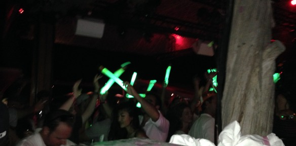 Glo sticks at Blue Marlin