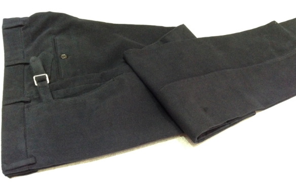 Navy Cotton Moleskin