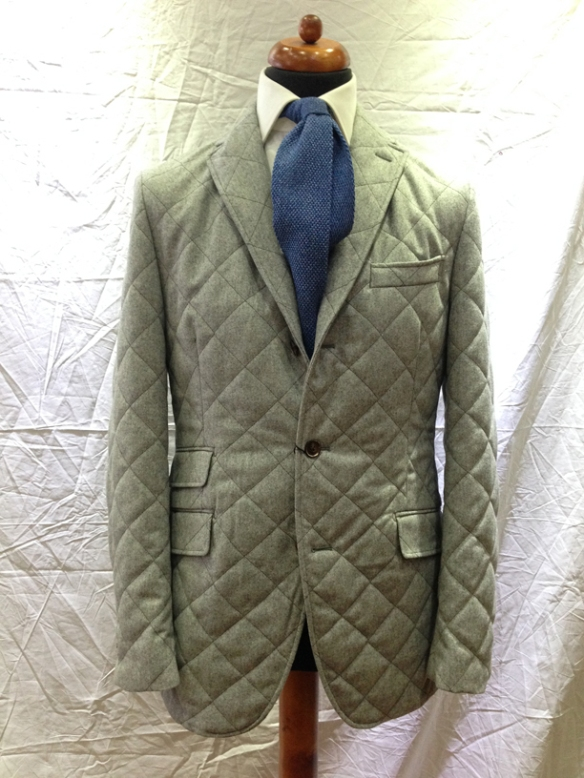 Beige Quilted Jacket