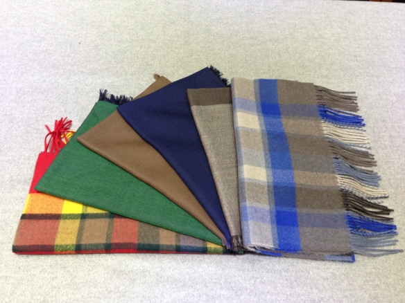 A selection of scarves