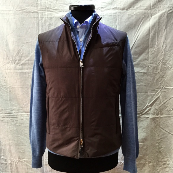 Brown Microfibre Gilet