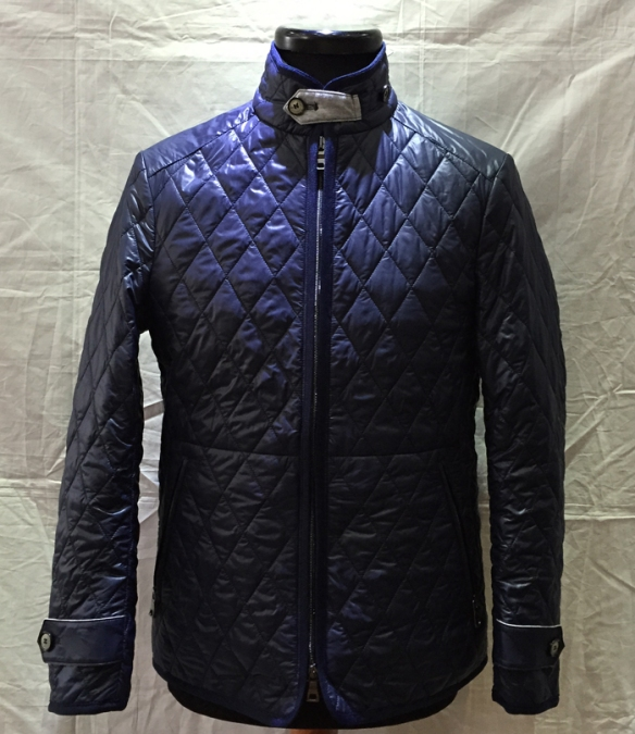 Navy Down Filled Quilted Jacket