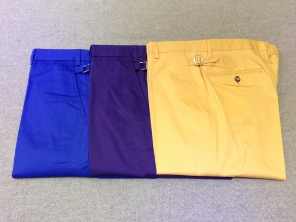 Blue cotton, Purple cotton, Yellow cotton