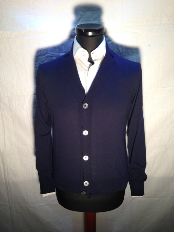 Navy Blue button cardigan with lapels