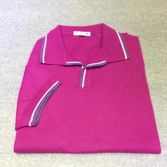 Light Purple cotton t-shirt with trim