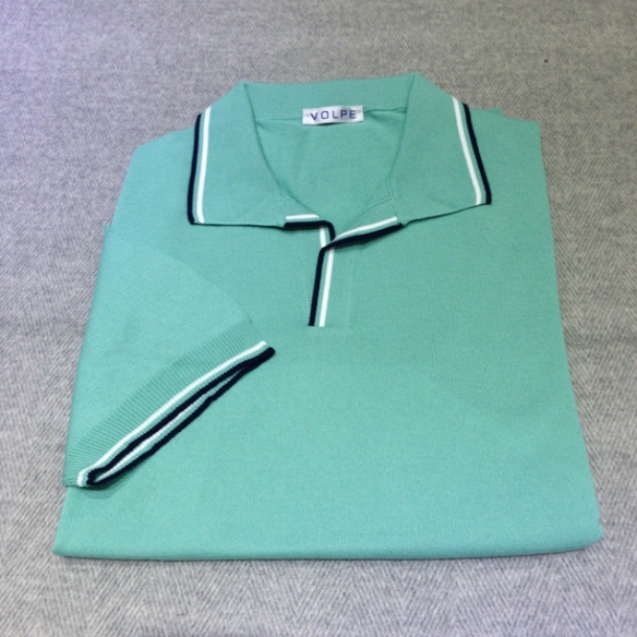 Mint Green cotton t-shirt with trim