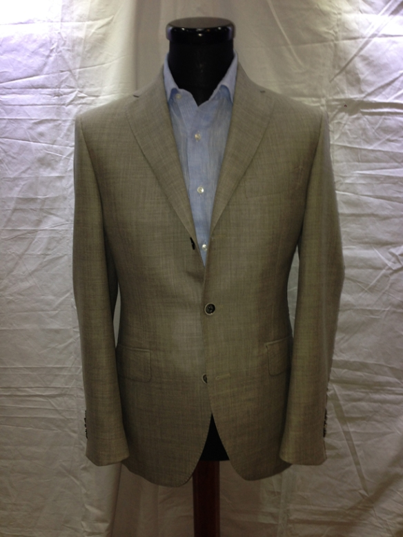 Light Grey wool/cotton unlined jacket (70% wool / 30% cotton)