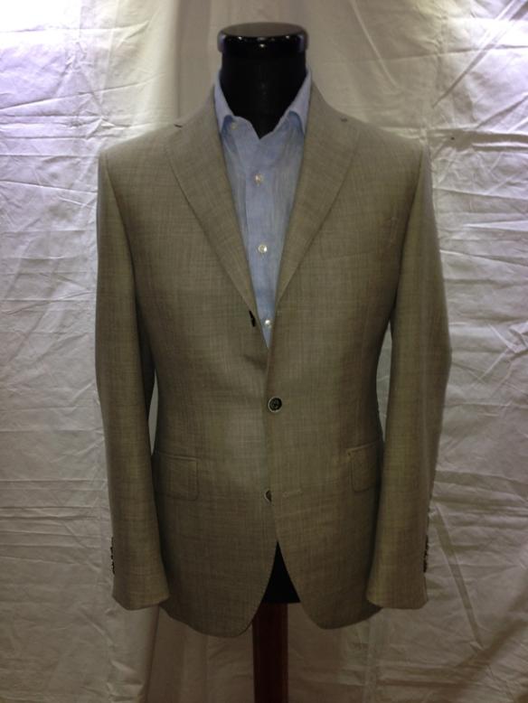 Light Grey wool/cotton unlined jacket (70% wool / 30% cotton)