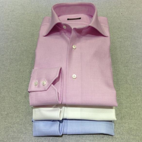 Pink, White and Blue cotton Airtex (100% cotton)