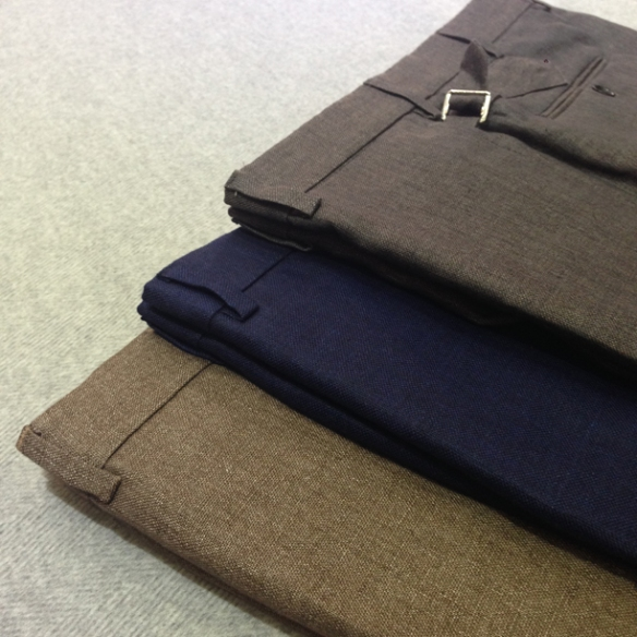 Brown, Navy Blue and Grey linen trousers (100% linen)