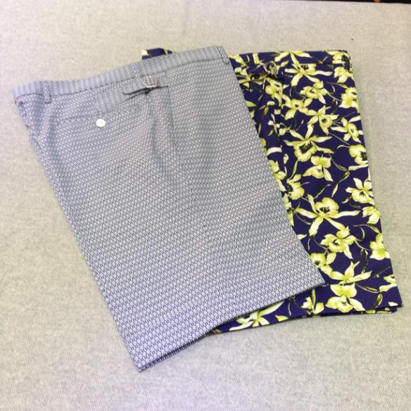 Geometric design (100% cotton) and Floral design shorts (97% cotton / 3% lycra)