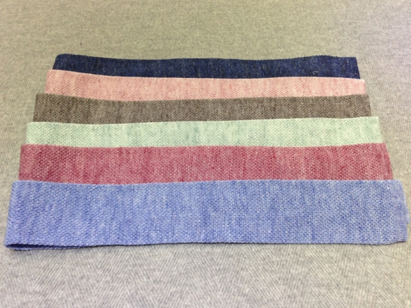 Knitted Linen Ties in plain colours