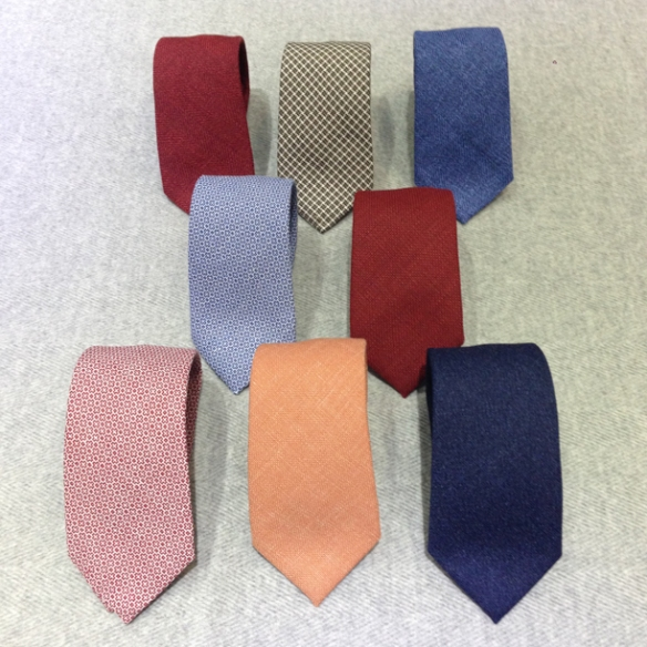 Linen (50%), Silk (35%) & Cotton (15%) Ties