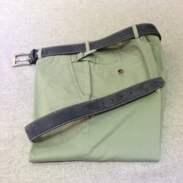 Washed Green cotton Blue belt