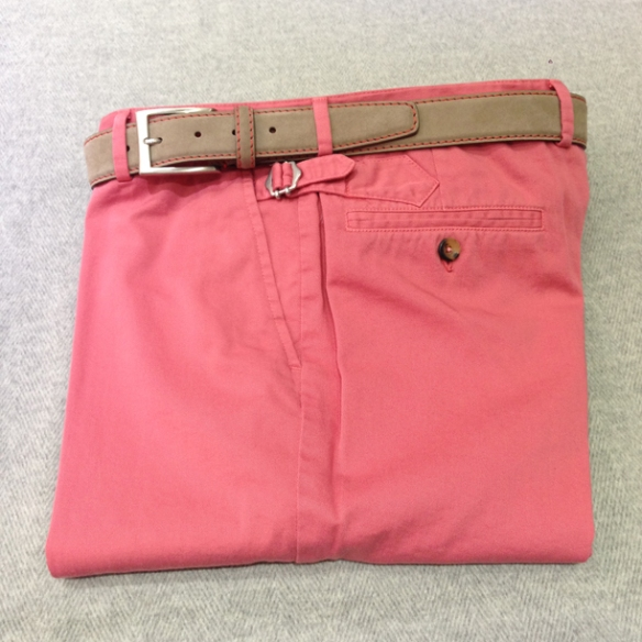 Washed Red cotton Light Brown belt