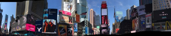 Times Square - Because it's a panorama