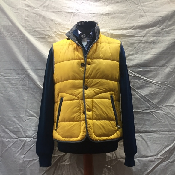 Yellow nylon microdown filled Gilet