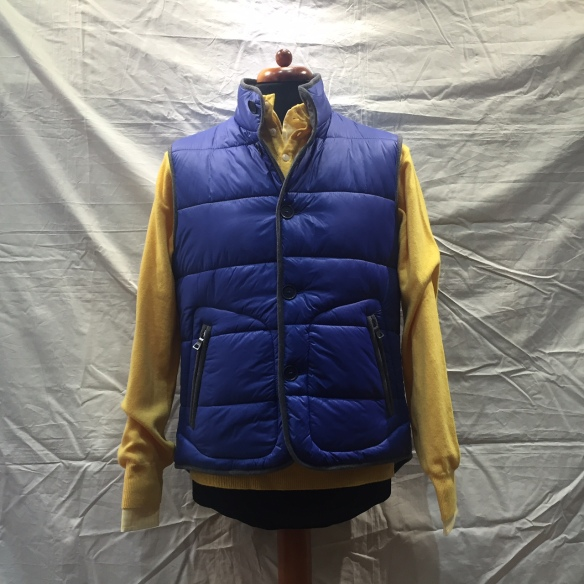 Bright Blue nylon microdown filled Gilet