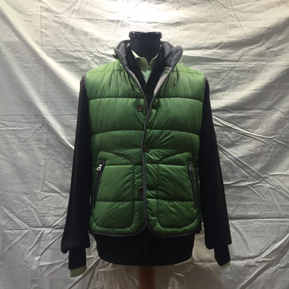 Green nylon microdown filled Gilet