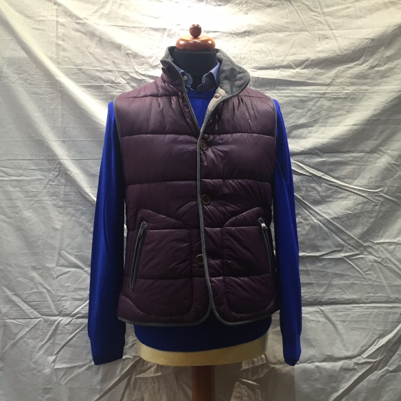 Purple nylon microdown filled Gilet