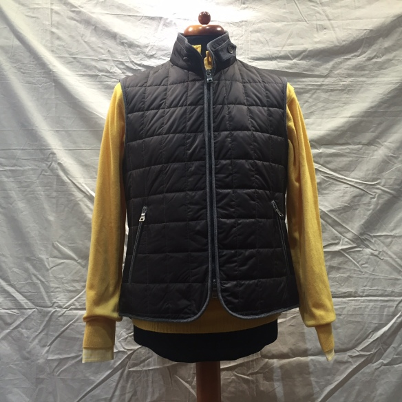 Brown nylon Hollofil square check Gilet - BTW It's SOLD OUT