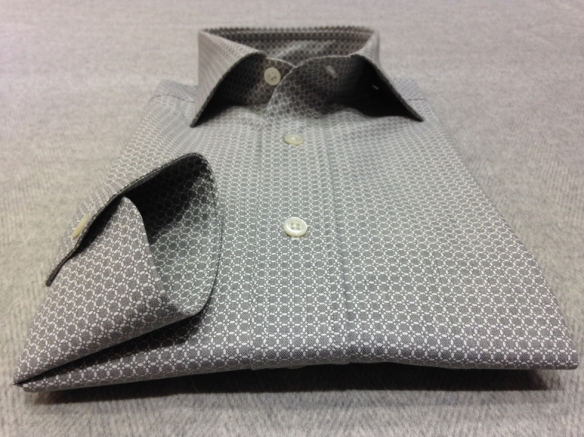 Grey patterned shirt