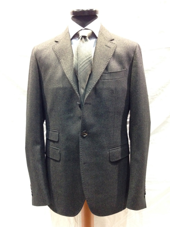Unlined Dark Green Wool Jacket - Loro Piana Zealander