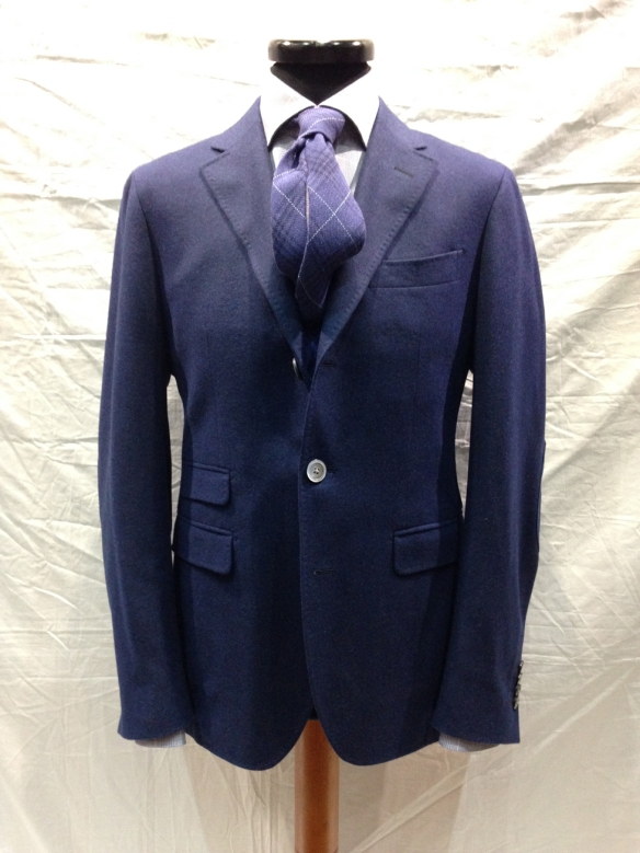 Blue Cashmere unlined Jacket