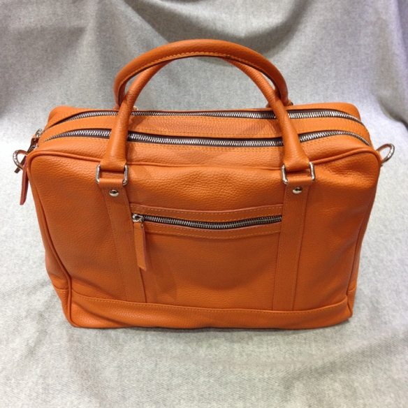 Orange Calfskin Briefcase