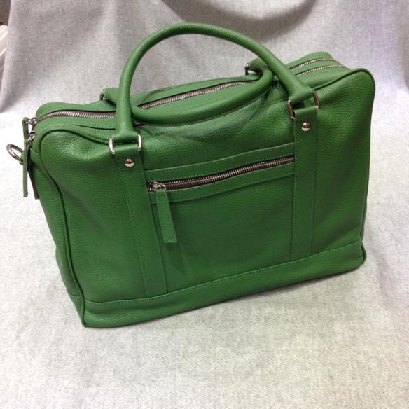 Green Calfskin Briefcase