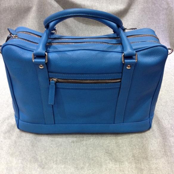 Blue Calfskin Briefcase