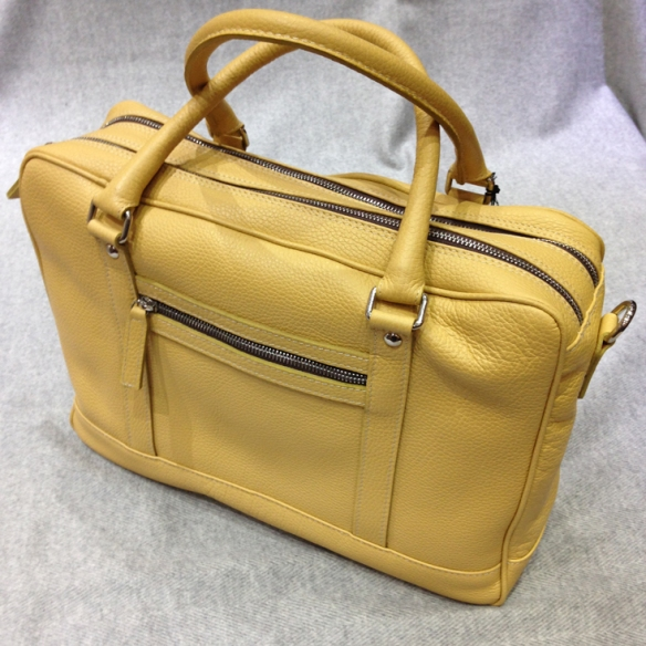 Yellow Calfskin Briefcase