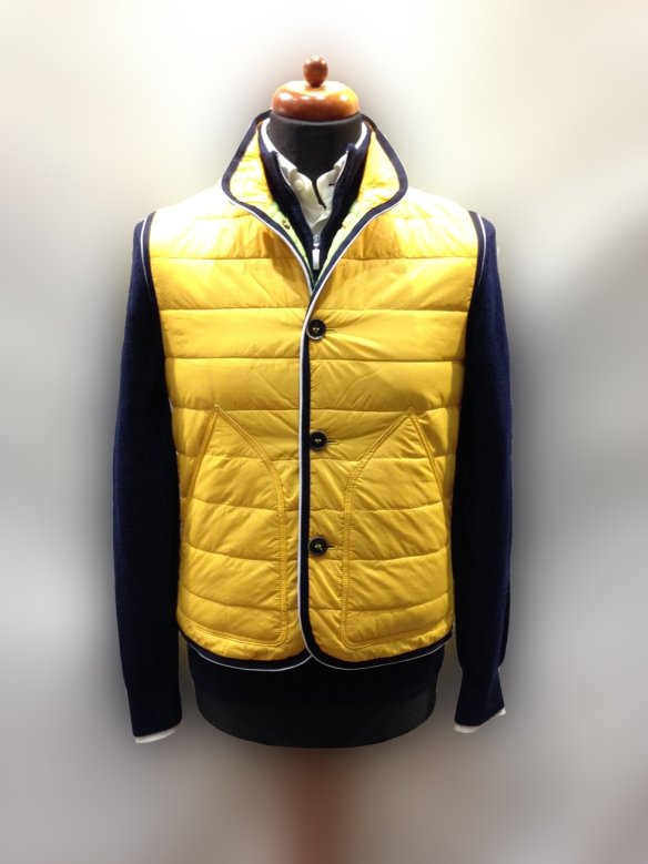 Yellow Nylon Micro Down Filled Gilet