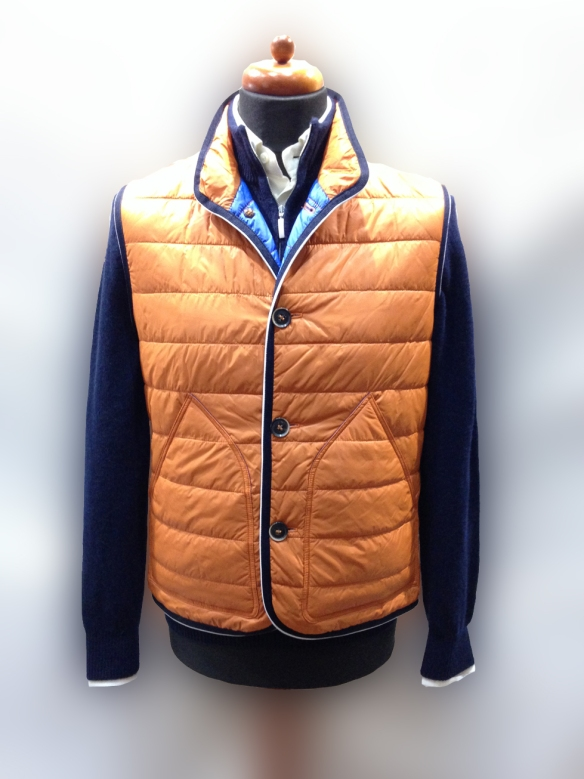 Orange Nylon Micro Down Filled Gilet