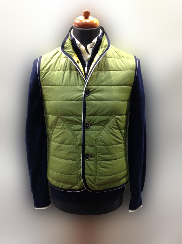 Dark Green Nylon Micro Down Filled Gilet