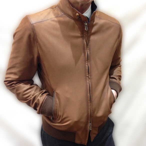 Reversible Brown Leather Jacket