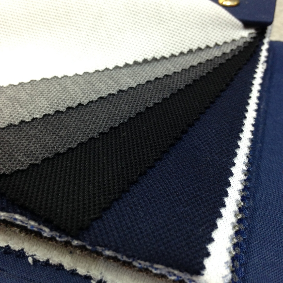 White, Mid Grey, Dark Grey, Black and Navy Blue (100% Cotton)