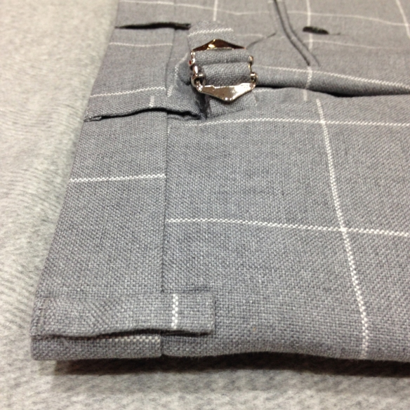 Linen Checked Trousers £165