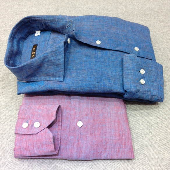 Blue Tonic and Pink Tonic Shirts (100% Linen)